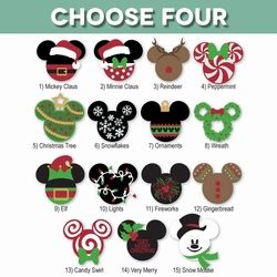 Mickey Heads: Découpes de Noël
