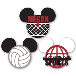 Mickey Heads: Volleyball personnalisé