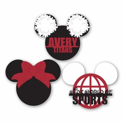 Mickey Heads: Custom Cheer Cuts Die