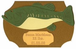 Custom Fish Trophy Laser Die Cut