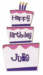 Custom Birthday Cake Girl Laser Die Cut