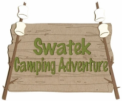 Custom Camping Adventures Sign Laser Die Cut