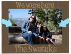 Custom We Were Here 4x6 Photo Frame Laser Die Cut