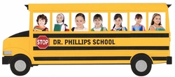 Custom School Bus Photo Frame Laser Die Cut