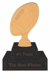 Custom Football Trophy Laser Die Cut