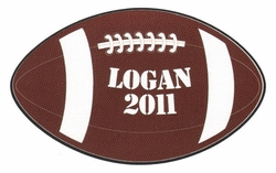 Custom Football Laser Die Cut