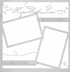 1SYT Custom Hope Faith Love 12 x 12 Overlay Laser Die Cut