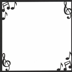 1SYT Custom Companion Music Notes 12 x 12 Overlay Laser Die Cut