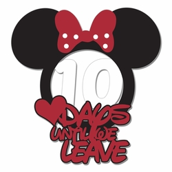Parks: Custom Minnie days until Laser Die Cut