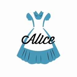 Custom Alice Dress Laser Die Cut