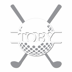 Golfing: Custom Golf Ball and Clubs Laser Die Cut