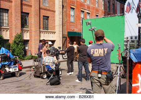 Équipe de tournage de film à manhattan - new york city, usa - Image