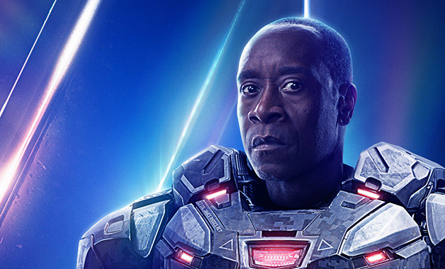 "Avengers 4 Don Cheadle Marvel Studios Machine de guerre Endgame Confiture LeBron James Space ""width ="" 628 ""height ="" 380"