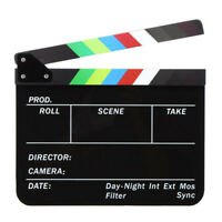 Acrylique Film Clapboard Clear Erase Lettre anglaise Movie Clapper Board CAL