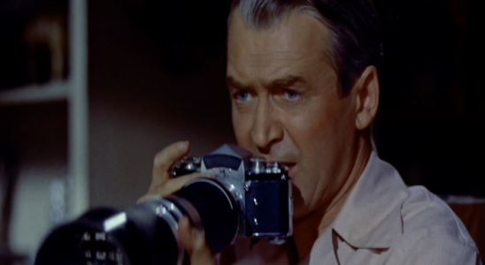 Jimmy Stewart in Rear Window.