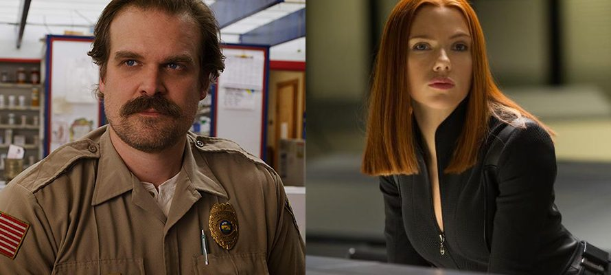 "David Harbour filme le tournage de ""Black Widow"" de Scarlett Johansson"