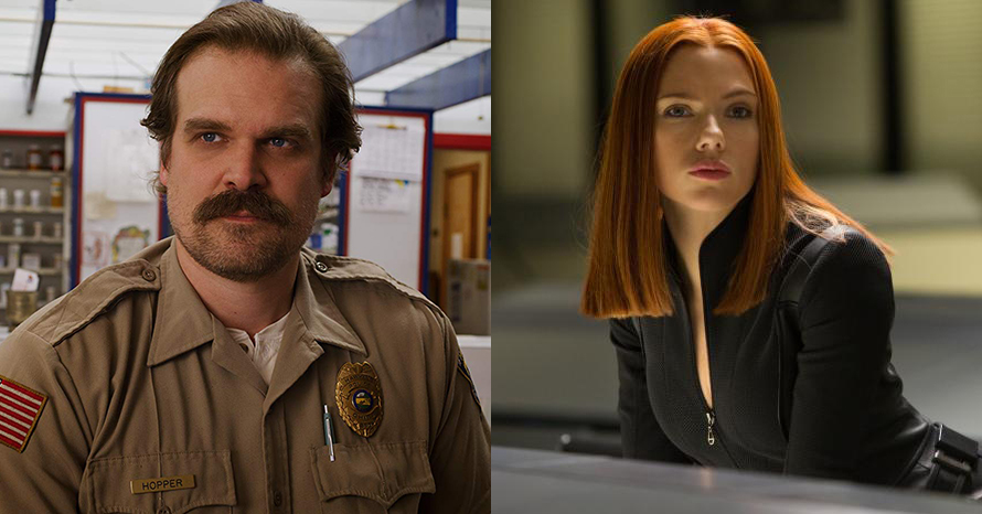 David Harbour Gardien Rouge Scarlett Johansson Black Widow